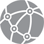 Networking gray icon