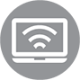 Managed WiFi icon high speed internet