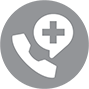 Phone calling emergency dispatch icon call center
