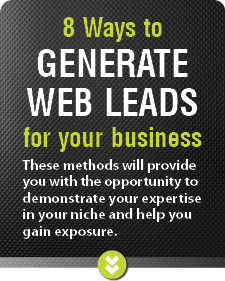 Generate web leads
