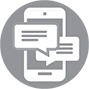 Phone service icon phone smart phone